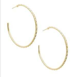 Kendra Gold Val Hoops With Crystal Embellishments
